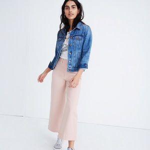 Madewell Emmett Wide-Leg Crop Pants in Pink Oyster